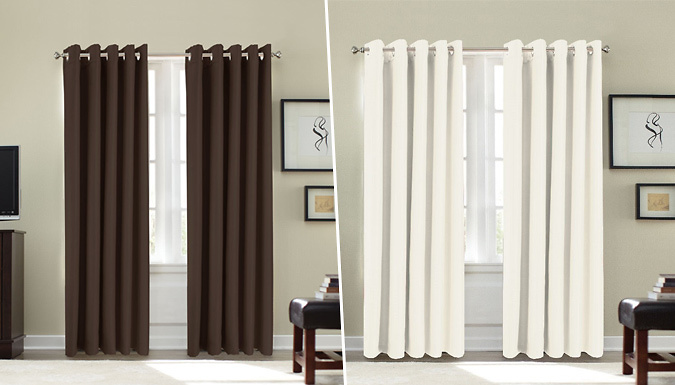Thermal Blackout Curtains - 4 Sizes and 8 Colours Available