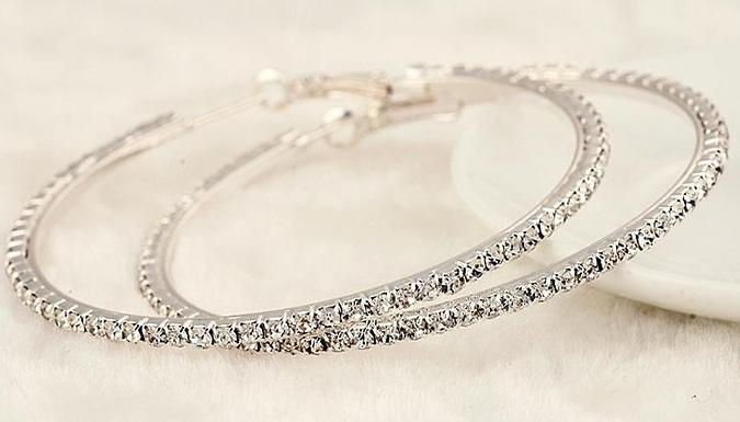5 or 6cm Crystal Hoop Earrings