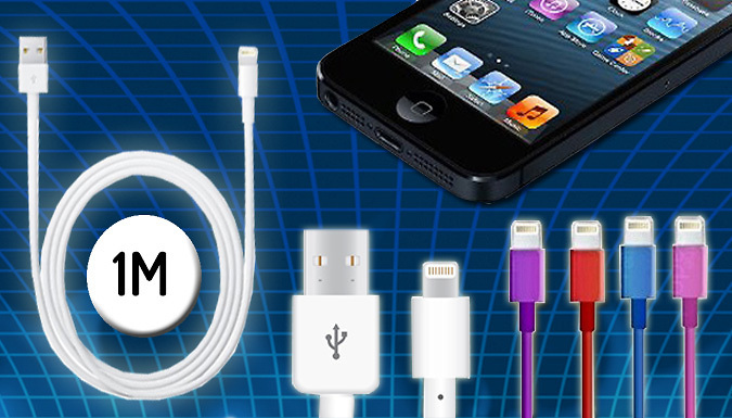 1m Lightning USB Cable - 5 Colours