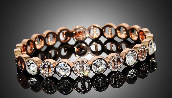 Rose Gold Tone Pave Bracelet
