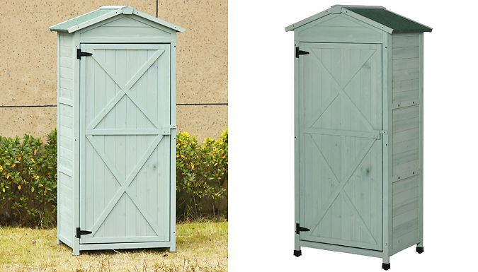 Outsunny Wooden 3-Tier Slim Garden Storage Shed - 3 Colours