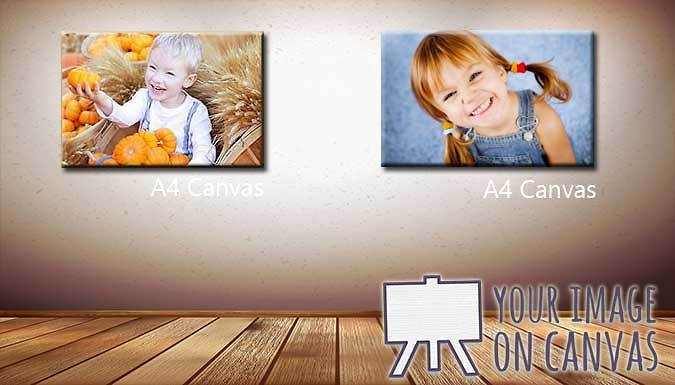 Personalised A4 Canvas Print