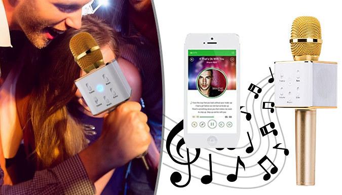 Wireless Bluetooth Karaoke Microphone with BuiltIn Speaker