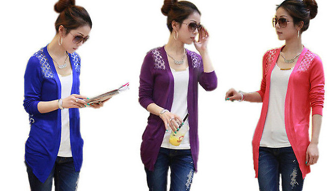 Candy Coloured Womens Cardigan