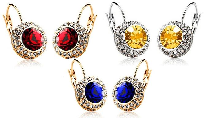 Forest Swarovski Elements Earrings