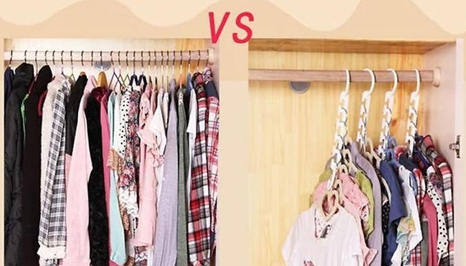 Pack of 8 Magic Wardrobe Organiser Hangers - Hang Up to 40 Items!