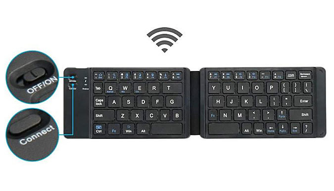 Folding Bluetooth Smartphone Compatible Keyboard - 2 Colours