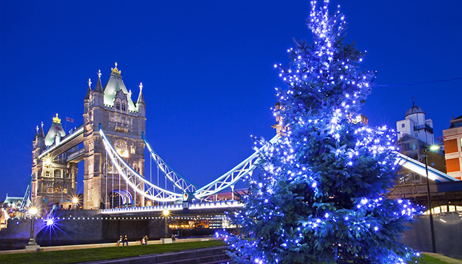 1-2 Night 4* Hotel Stay with Breakfast & Christmas Lights by Night Bus Tour from OMGhotels.com Limited