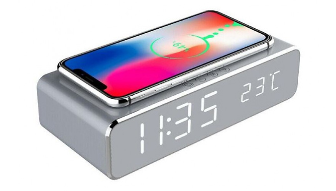 2-in-1 Alarm & Wireless Charger