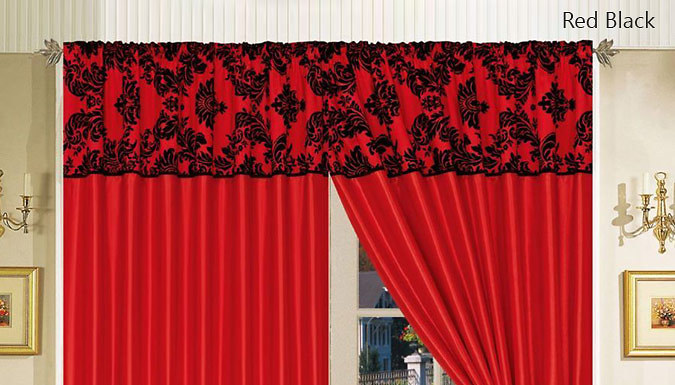 Flock Pattern Curtain - 12 Colours