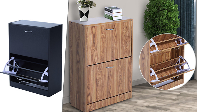 DDDeals - 2 Drawer Shoe Storage Cabinet - 2 Colours!