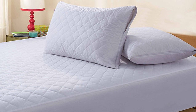 Quilted Zipped Pillow Protectors - 4 or 8
