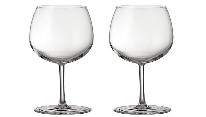 Pair of Jamie Oliver Waves Red Wine Glasses
