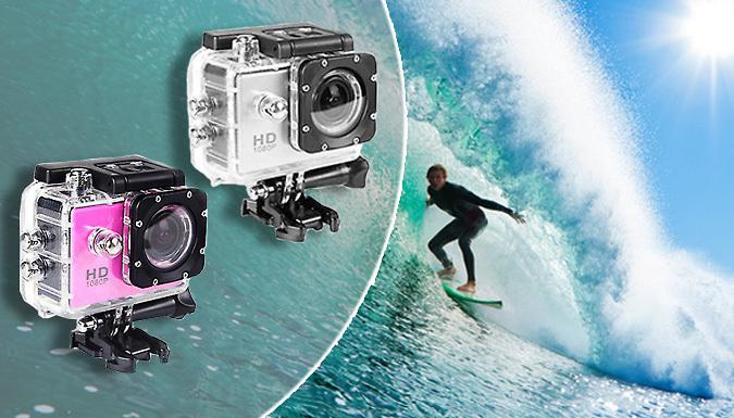 Waterproof AdventurePro Sports Camera - 3 Colours