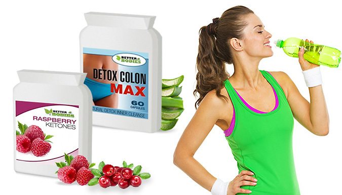 1-Month Supply of Raspberry Ketone and 'Colon Cleanse' Capsules