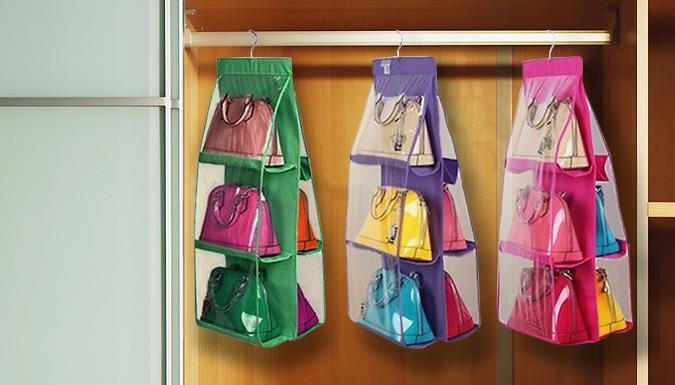 6Pocket Hanging Handbag Organiser  3 Colours