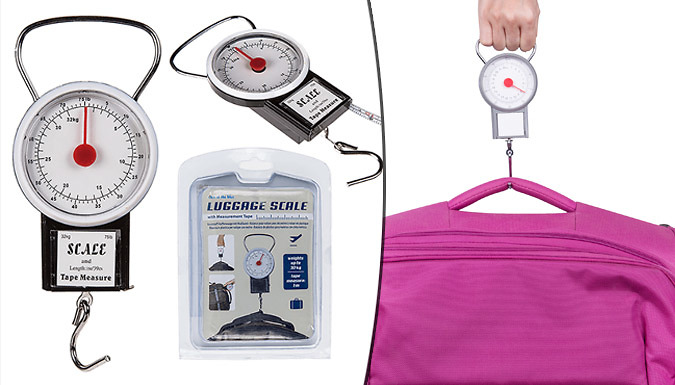 2-in-1 Luggage Scales & Tape Measure Device from London exchainstore