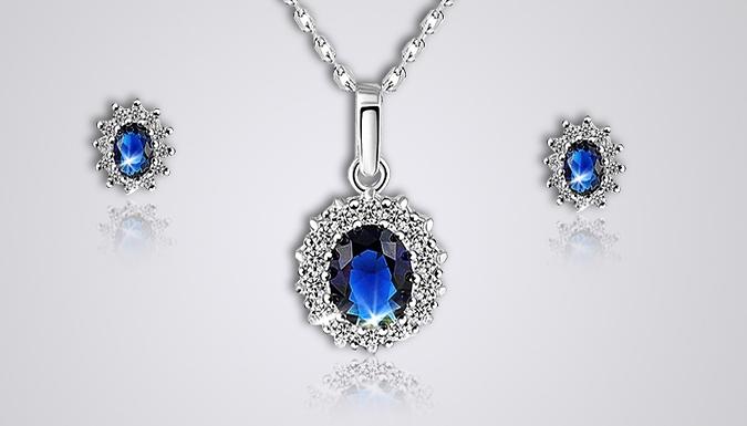Blue Swarovski Elements Crystal Jewellery Set