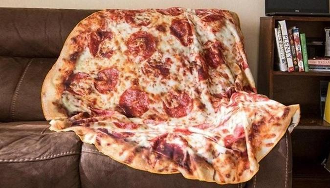 Flannel Pizza Blanket - 2 Designs & 3 Sizes