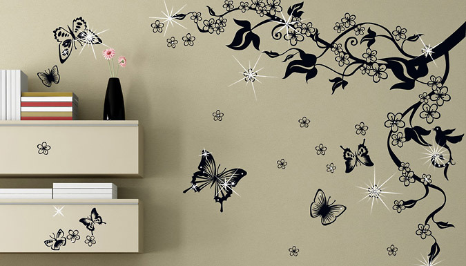 Clear Crystal Wall Stickers