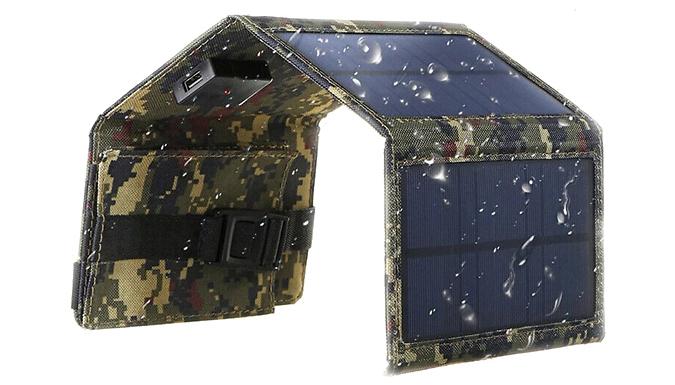 XL Folding Solar Panel with PowerBank - Waterproof Design! from SecretStorz
