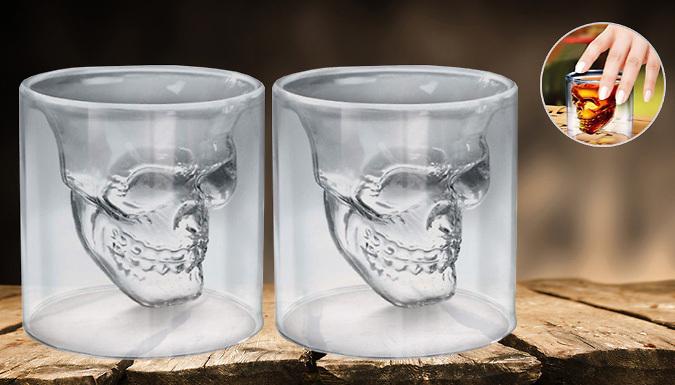Set of 2 Skull Shot Glasses