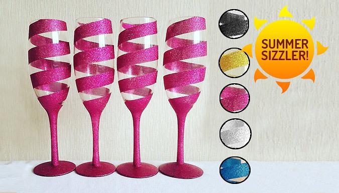 4 Sparkling Champagne Flutes  5 Colours