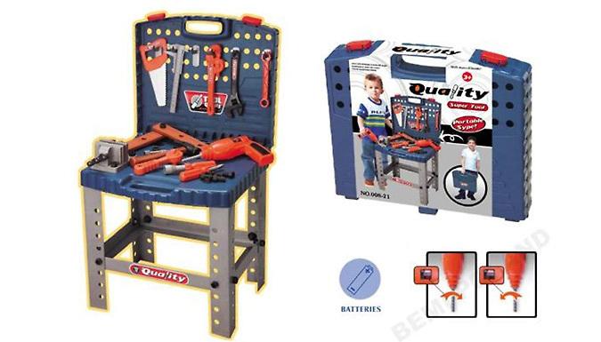 54 Piece Kids Toy Tool Station