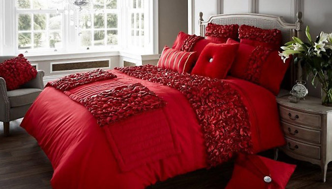 Verina Duvet Set - 4 Sizes and 5 Colours Available
