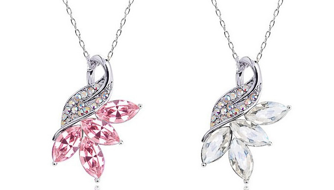 Crystal Swan Necklace; 8 Colours