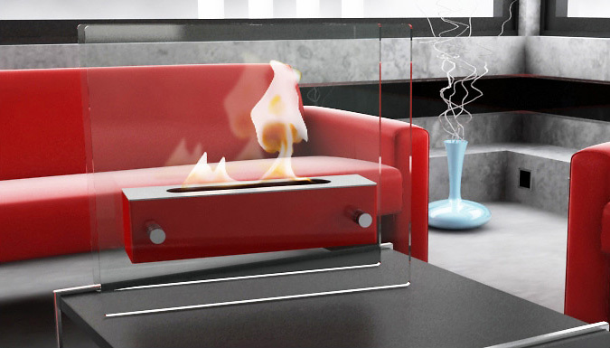 Bio-Ethanol Fireplace - 3 Colours