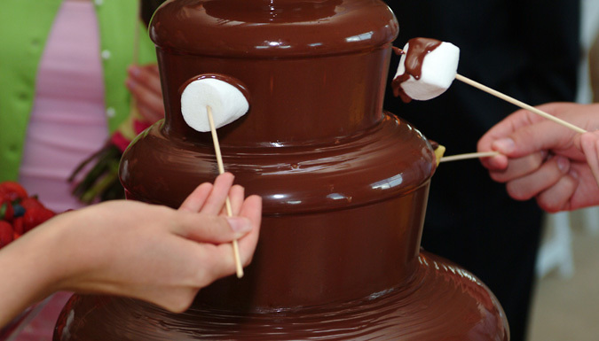 3-Hour Chocolate Fountain Hire For 50 Guests