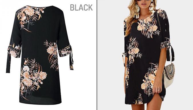 Floral T-Shirt Dress – 2 Colours & 3 Sizes (£11.99)