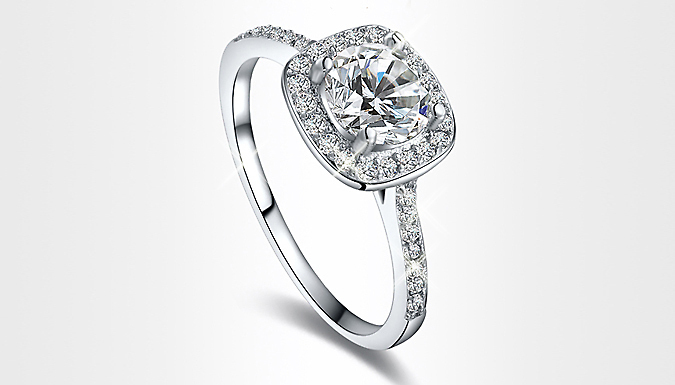Platinum Plated Zircon Ring