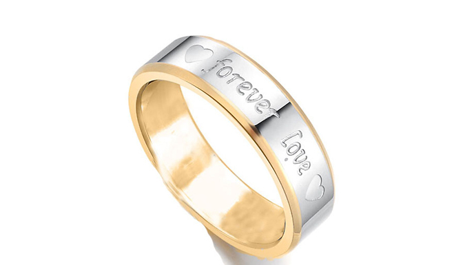 18K White Gold Plated Forever Love Ring