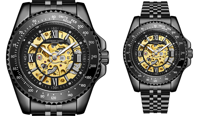 Limited Edition HandAssembled Anthony James Sports Watch  2 Colours