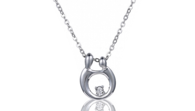 Synthetic Crystal Infinity Necklace