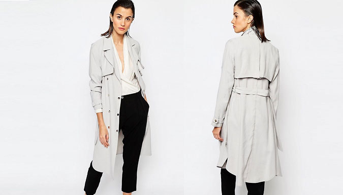 Get Grey Trench Coat - 5 Sizes from