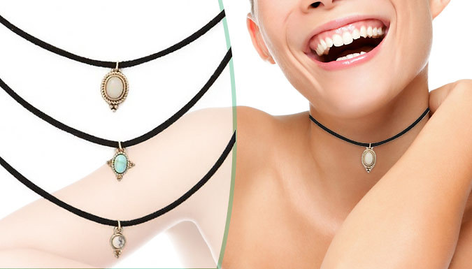 3 Turquoise Chokers