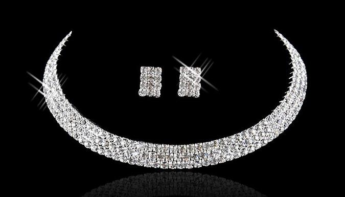 Crystal Choker and Earrings Set