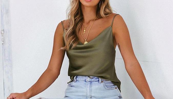 Faux Silk Vest - 6 Colours & 4 Sizes