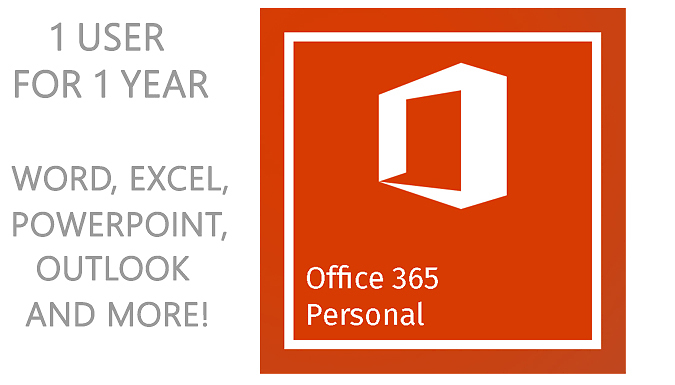 Microsoft Office 365 Personal Download – 1 User for 1 Year (£39.99)