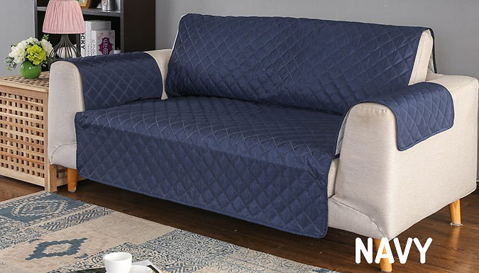 Quilted Sofa Furniture Water-Resistant Protector - 8 Colours & 3 Sizes from GoGroopie