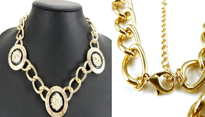 Gold Plated Lion Head Jewellery Set