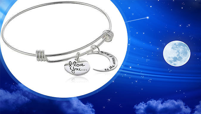 Moon And Back Charm Bracelet