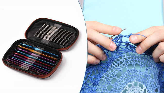 22 Piece Aluminium Knitting Set