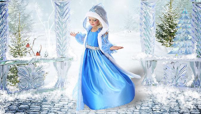 Snowflake Princess Hooded Dress