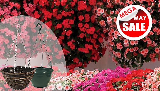 DDDeals - Waterfall Flower Hanging Baskets - Rattan or Plastic