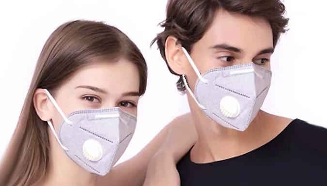 3, 5 or 10-Pack of Reusable N95 Valved Respirator Face Masks from Hirix International Ltd