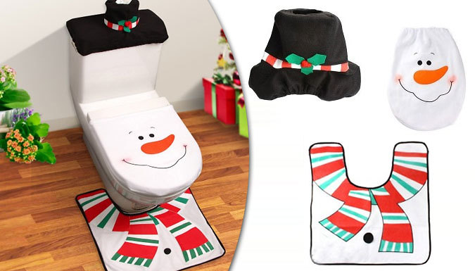 Snowman Christmas Bathroom Decoration Set